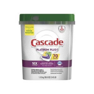 70 Cascade Platinum Plus Lemon Dishwasher Detergent Actionpacs