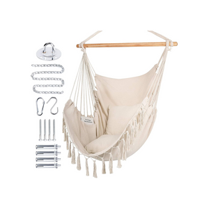 Extra Large Hammock Chair Swing with Hardware Kit
