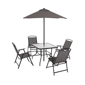 6 Piece Outdoor Patio Dining Set (5 Colors)