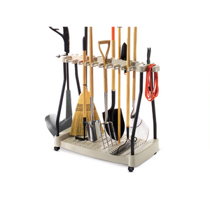 Suncast Lawn and Garden Tool Storage Rack with Wheels