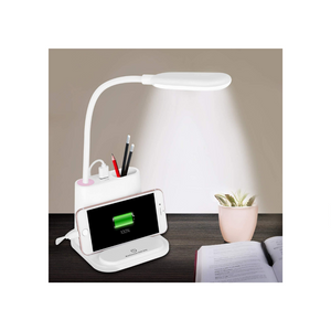 Dimming LED Desk Lamp with USB Charging Port (2 Colors)