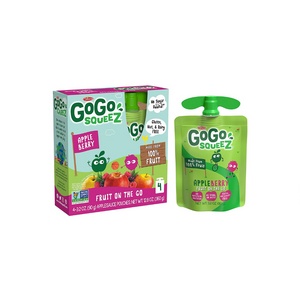 48 Pouches Of GoGo squeeZ Apple Berry Applesauce