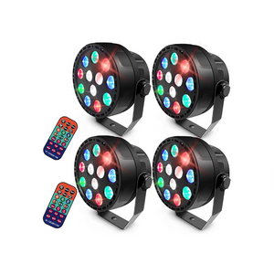 4 LED Stage Lights With Remote