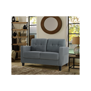 Lifestyle Solutions Tod Loveseat w/ Upholstered Microfiber & Eucalyptus Wood Frame