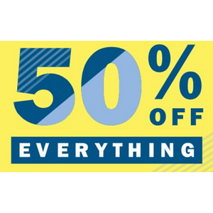 Extra 50% Off Everything Including Clearance Items