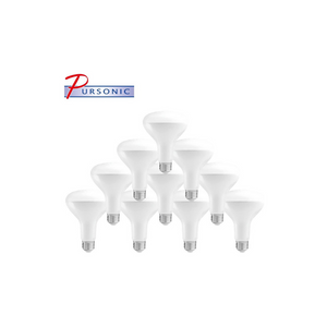 10 Pack Of Pursonic 65 Watt Equivalent LED Soft White Light Bulbs