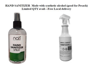 Sanitizer - Good for Pesach
