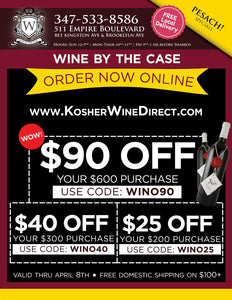 Lowest Prices On Kosher Wine