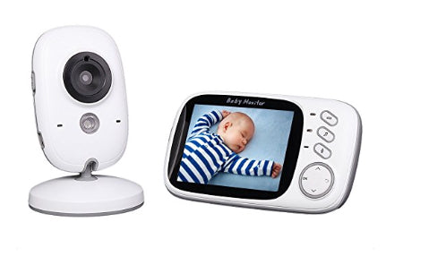 Video Baby Monitor with Night Vision and Temperature Monitoring