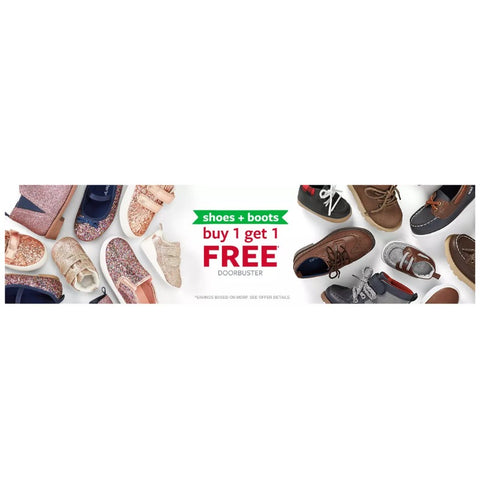 Buy 1 pair or shoes or boots and get 1 free