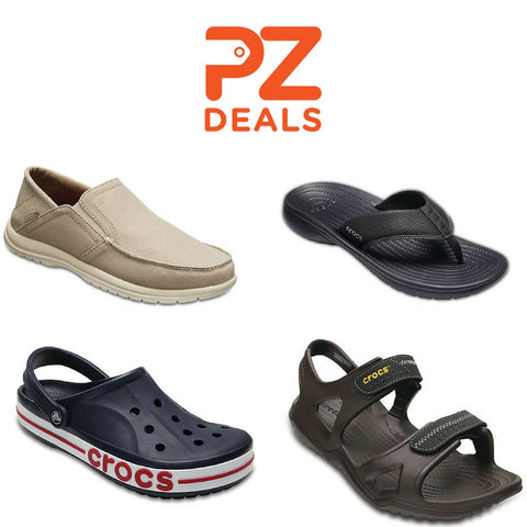 2 pairs of Crocs for $35