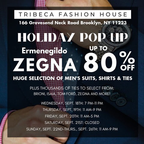 Sample Holiday Sale! Up To 80% Off Zegna Suits, Shirts, Ties And More