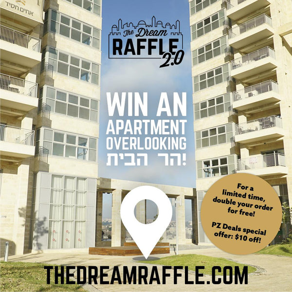 SUKKOS SAVINGS! Double your chances to win a luxury apartment for free!