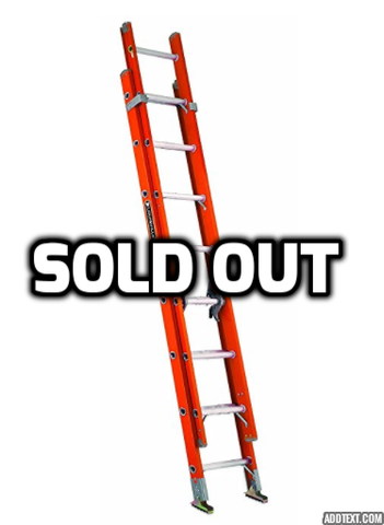 Louisville fiberglass extension 20 feet ladder