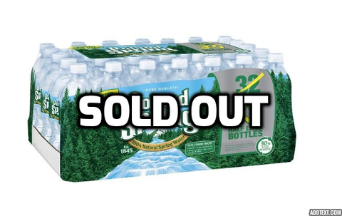 Pack of 35 Poland Spring bottled water