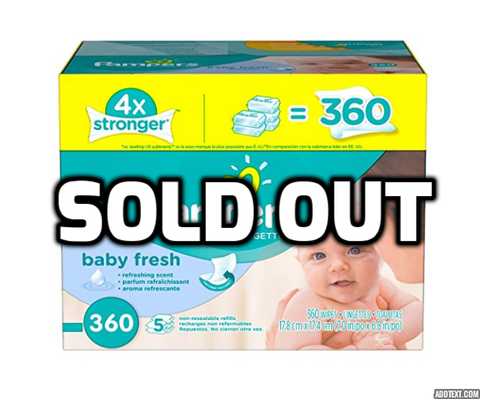360 Pampers baby wipes