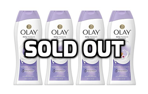 Pack of 4 Olay Daily Moisture with Almond Milk Body Wash