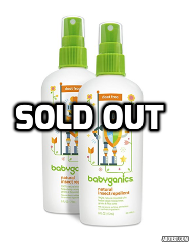 Pack of 2 Babyganics natural insect repellent