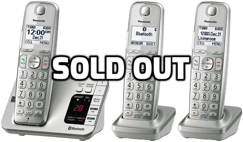 Panasonic 3 cordless handsets with answering machine