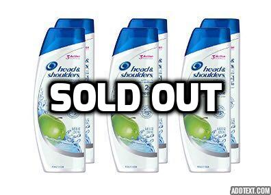 6 Head and Shoulders Green Apple 2-in-1 Anti-Dandruff Shampoo + Conditioner
