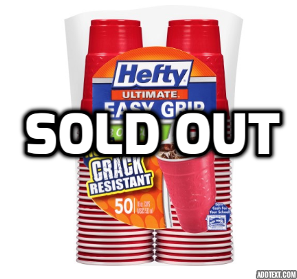 Pack of 50 Hefty party cups