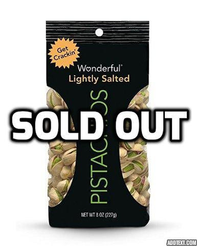 24 packs of Wonderful Pistachios 1.5 oz