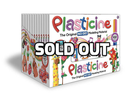 Plasticine - 12 units of 24 Color Rainbow Play Pack