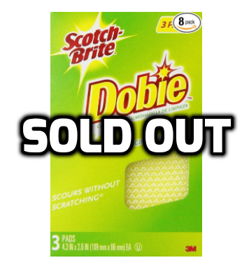 24 pack of Scotch-Brite Dobie All-Purpose Pad