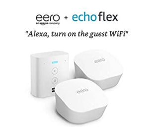 eero mesh WiFi system, 2-Pack with Free Echo Flex