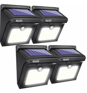 Set Of 4 Solar Outdoor LED Lights