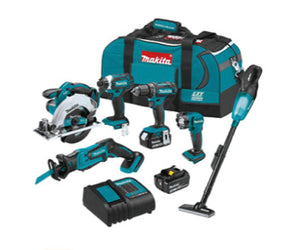 6 Piece Makita 18V LXT Lithium-Ion Combo Kit