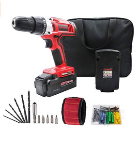 18V Cordless Drill With 2 Batteries And Drill Bits