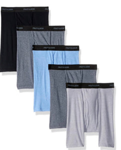 5 Fruit of the Loom Men's Soft Boxer Briefs