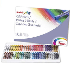 Pentel Arts Oil Pastels, 50 Color Set