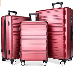 3 Piece Lightweight Hardside Luggage Set, TSA Lock