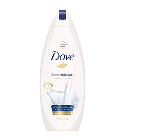 4 Bottles of Dove Body Wash, Deep Moisture