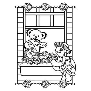Grateful Dead Window Box Coloring Book Page