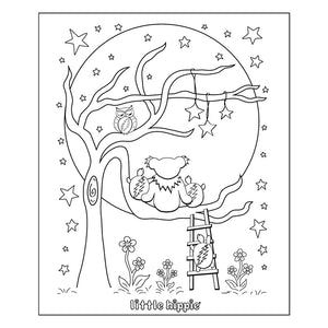 Grateful Dead Moon Tree Coloring Book Page