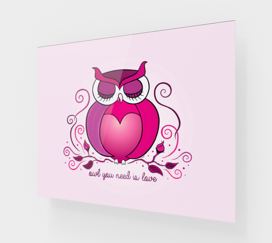 Owl You Need Is Love Acrylic Print