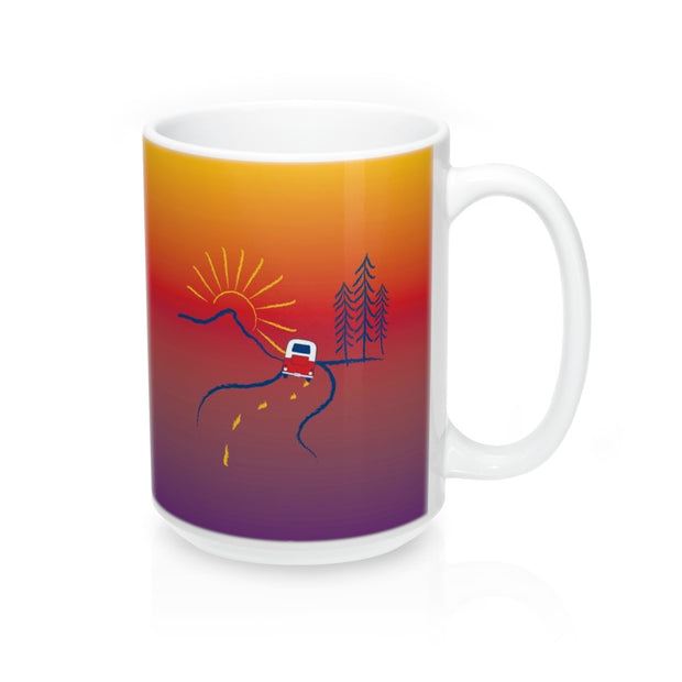 On the Road Ceramic Mug 15oz