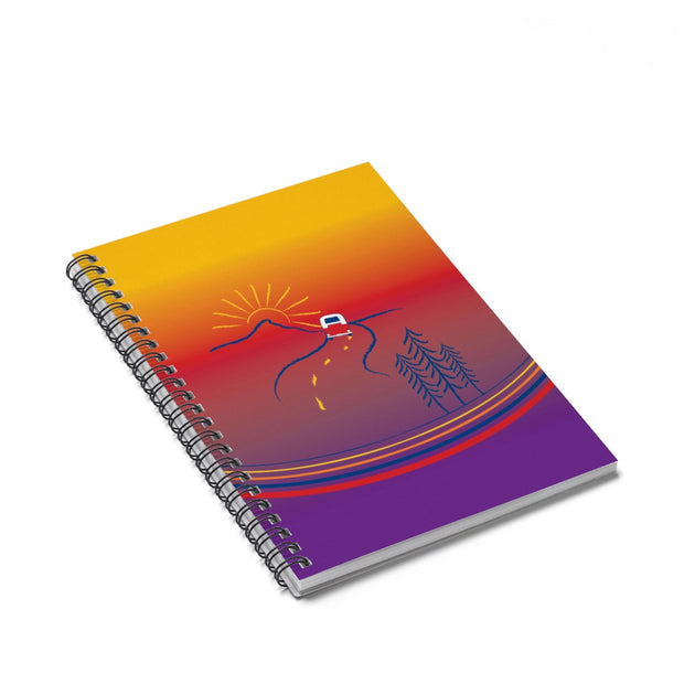 On the Road Ruled Line Spiral Notebook