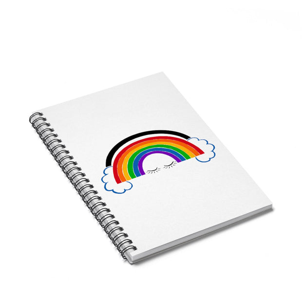 Little Hippie Rainbow Spiral Notebook - Ruled Line