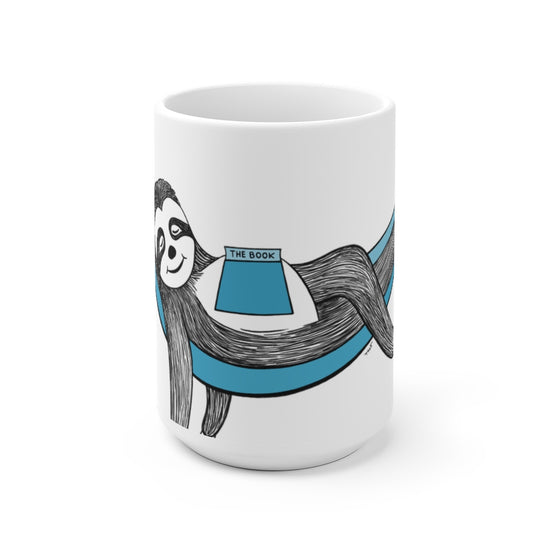 Sloth in a Hammock White Ceramic Mug