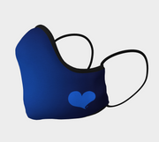 Blue Shaped Face Mask with Blue Heart