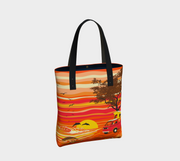 Van Camping on a Hawaii Beach Tote Bag