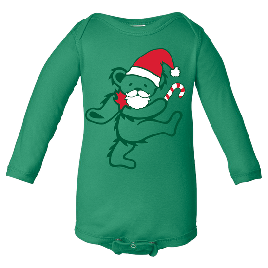 Grateful Dead Santa Bear Long Sleeve Baby One Piece