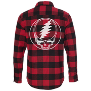 Red & Black Steal Your Face Men's Flannel 30% OFF