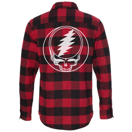 Red & Black Steal Your Face Men's Flannel