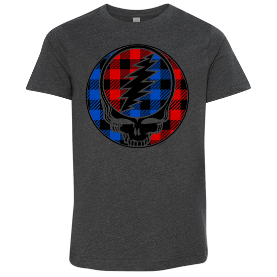 Buffalo Plaid Stealie Youth T