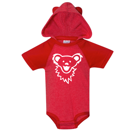Grateful Dead Dancing Bear Face Hooded Baby One Piece